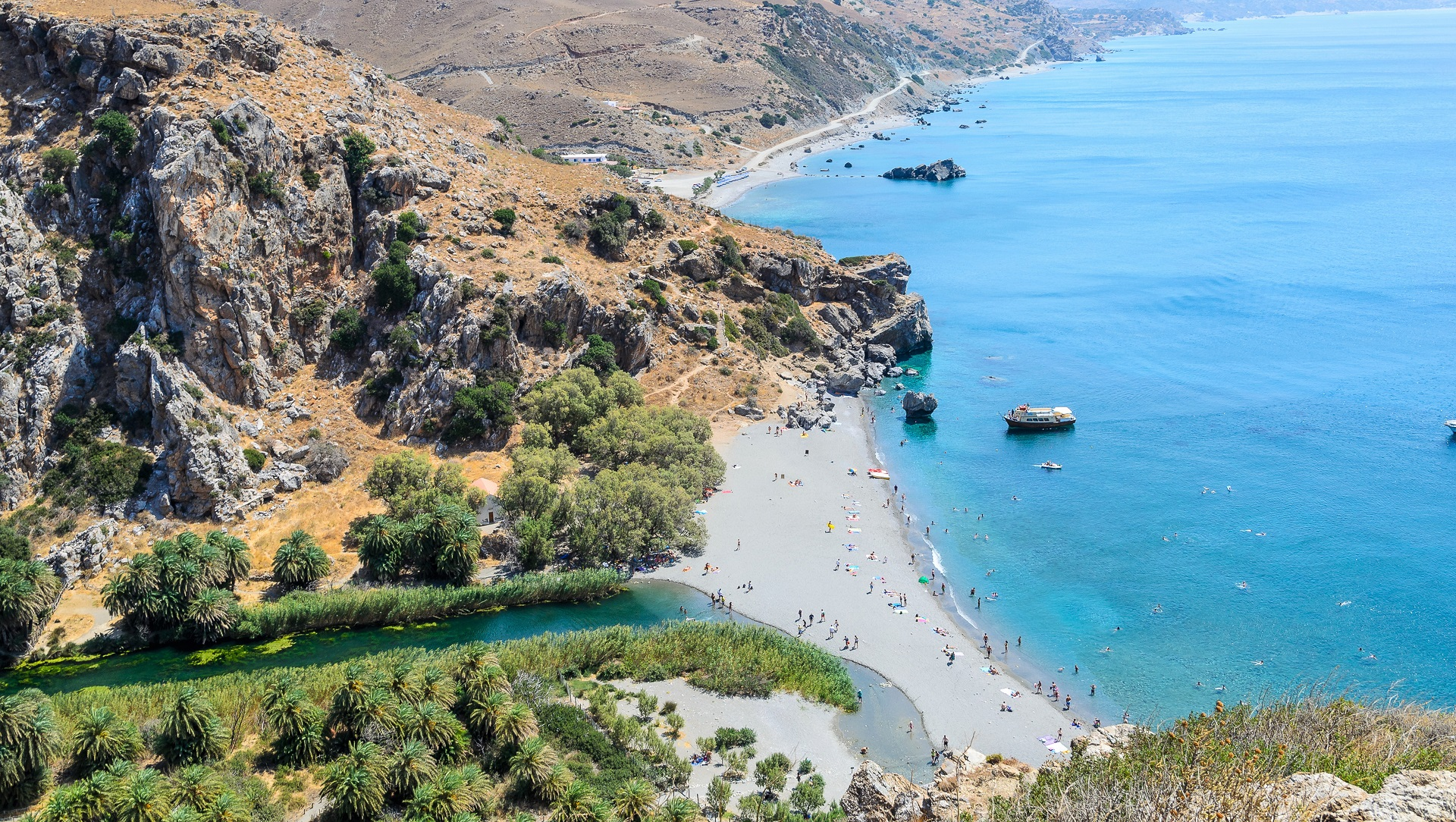 Beautiful beach in Crete