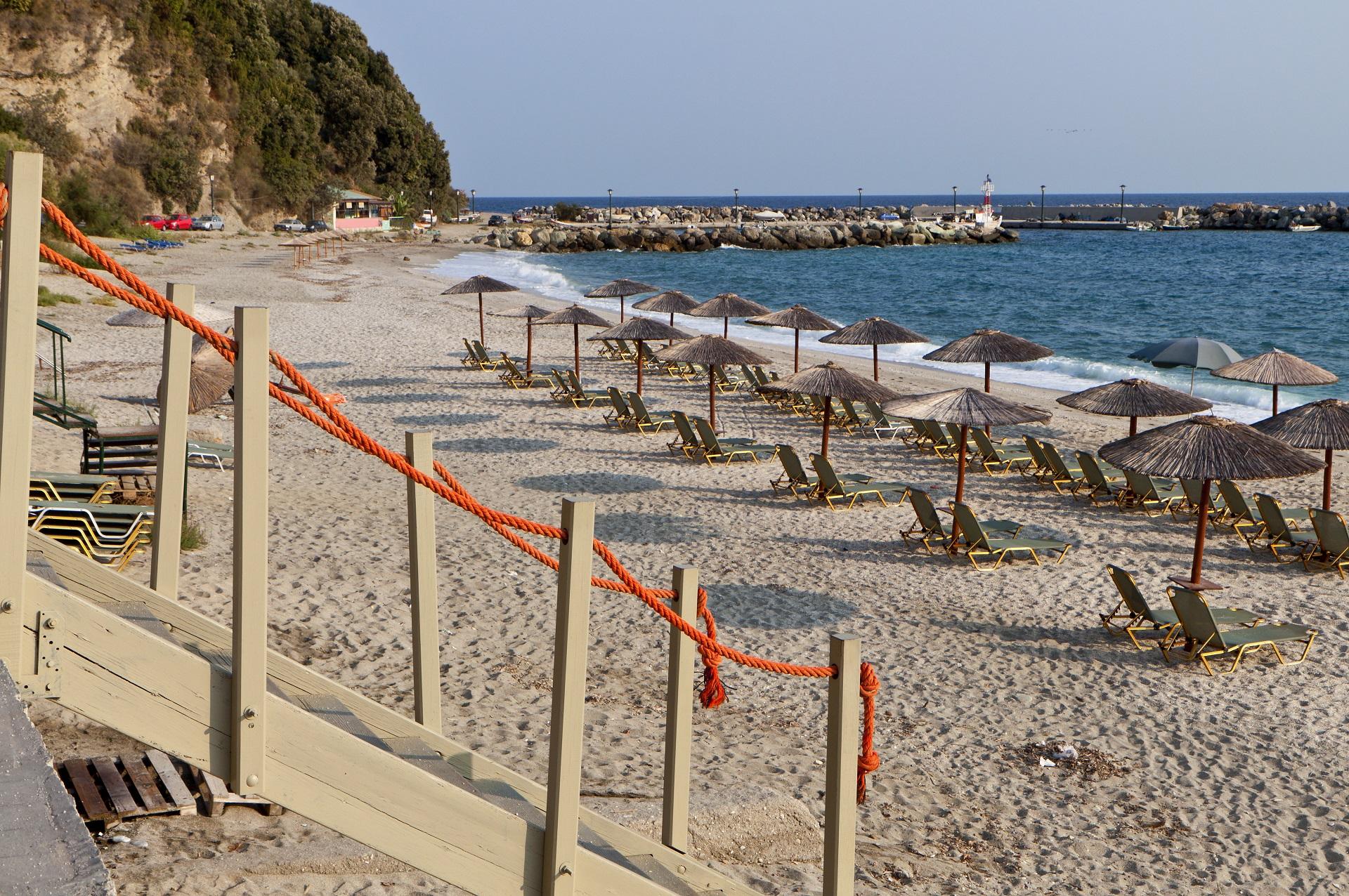Agios Ioannis village and beach at Pelion