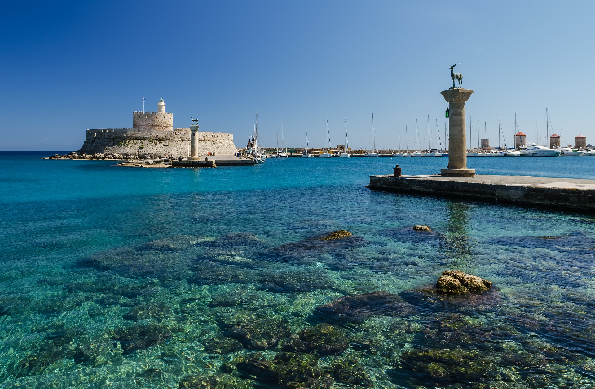 Port in Rhodes