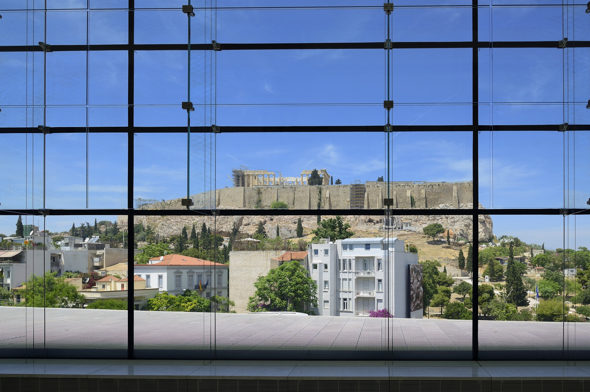 View of the Acropolis from the Museum of Acropolis
