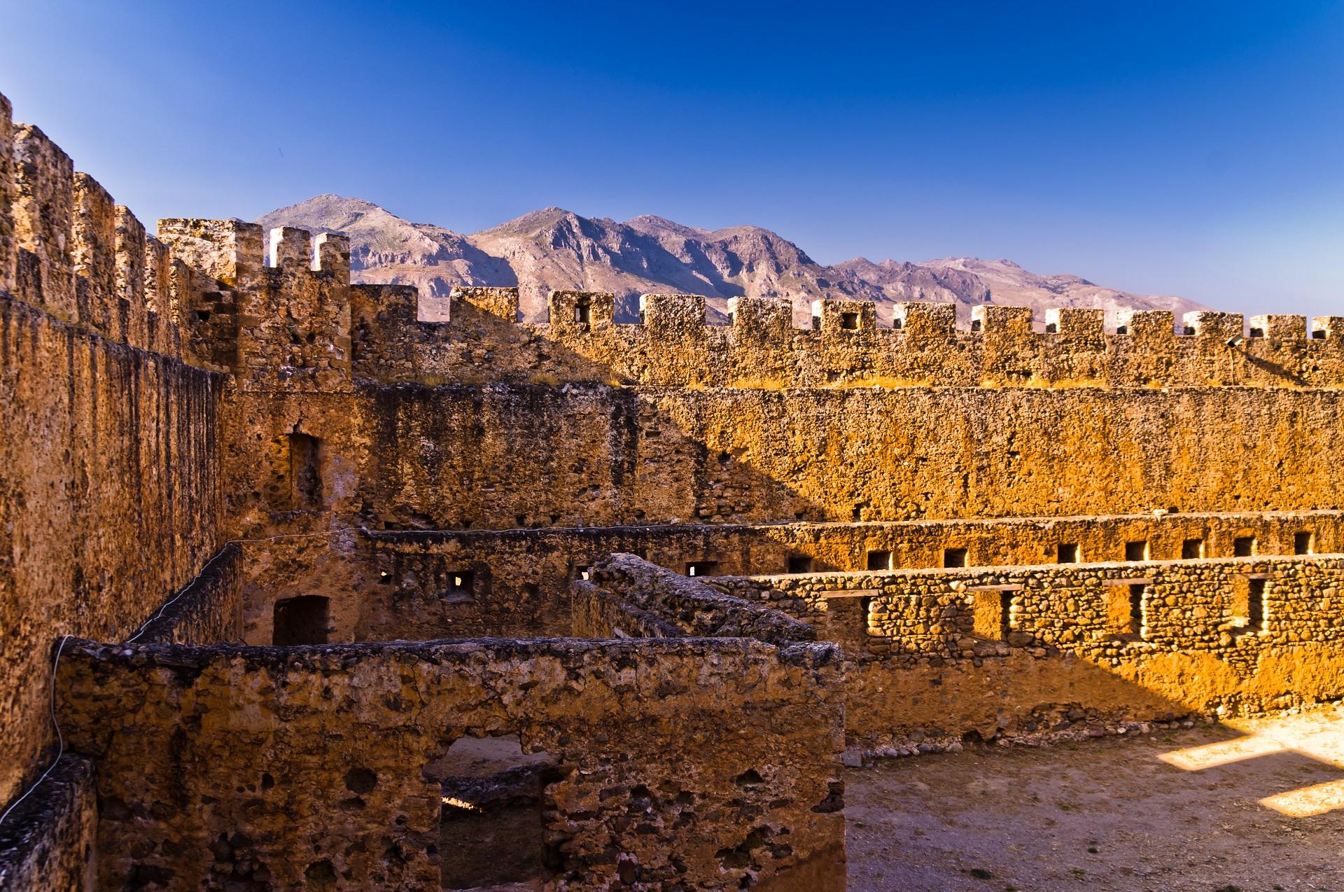 Frangokastello Castle in Crete