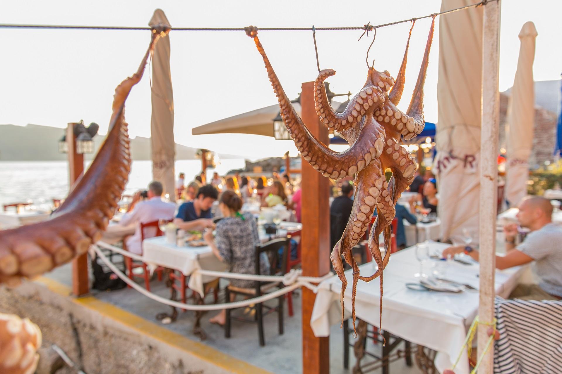 Seafood restaurant in Santorini