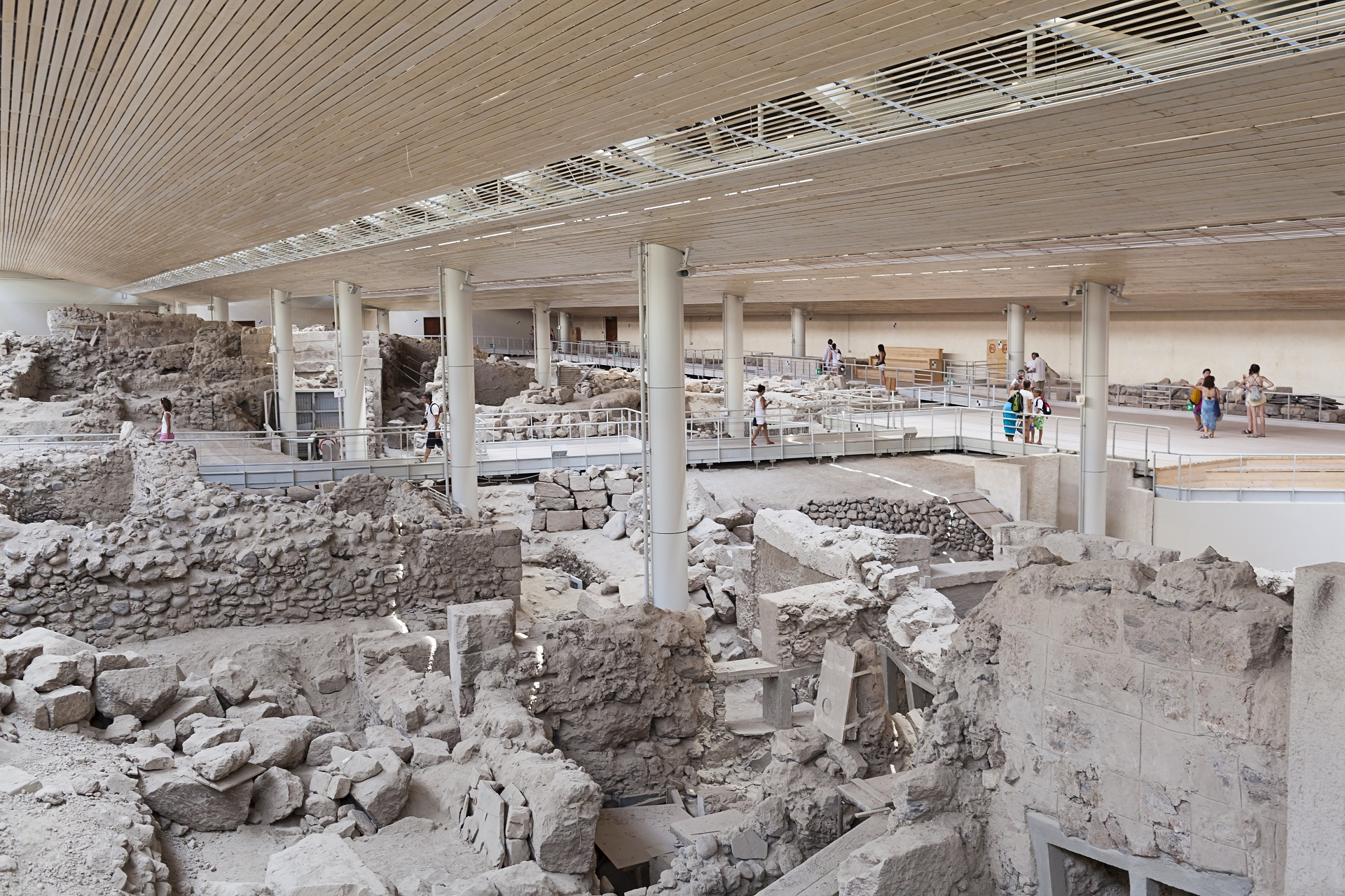 Akrotiri, excavation site of a Minoan Bronze Age settlement on the Greek island of Santorini