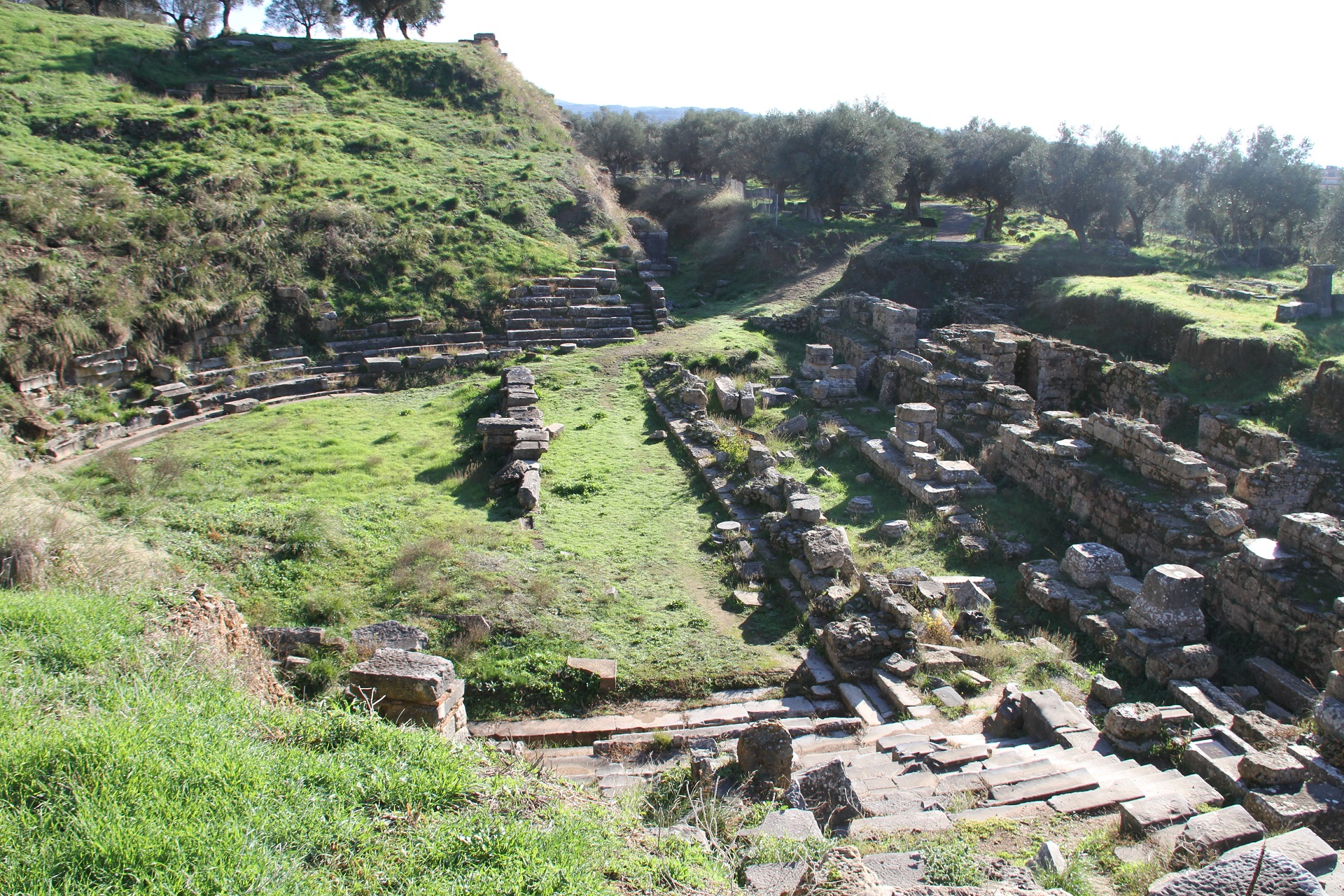 Ancient theater in Sparta