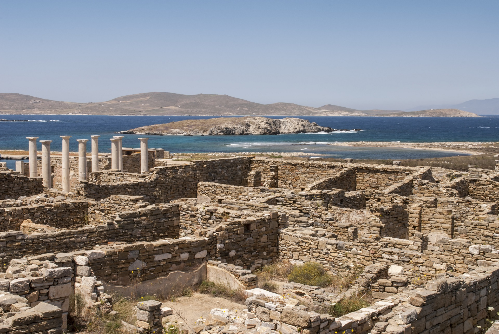 Archaeological site on island of Delos